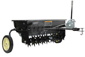 McKays Tow Behind Combination Aerator Seed Spreader / Spike Spreader